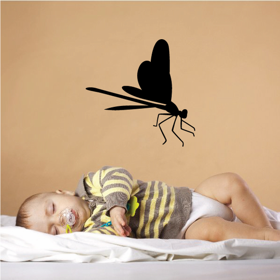 Perched Open Wings Dragonfly Decal