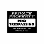 Private Property No Trespassing  Sign Signs Home Business Car text Vinyl Decal Sticker Stickers 0010