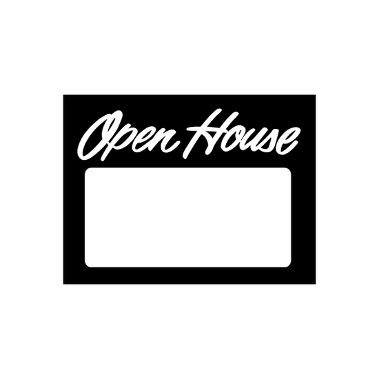 Open House Sign Signs Home Business Car text Vinyl Decal Sticker Stickers 0012