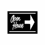Open House Sign Signs Home Business Car text Vinyl Decal Sticker Stickers 0013