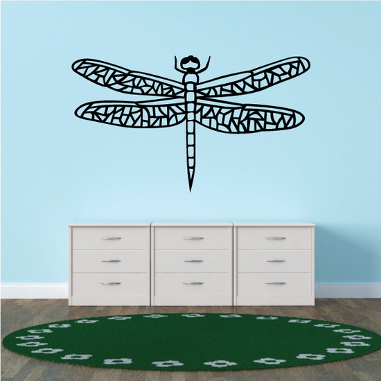 Cut Out Wings Dragonfly Decal