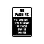 No Parking Sign Signs Home Business Car text Vinyl Decal Sticker Stickers 0015