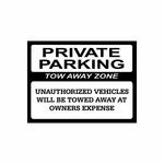 Private Parking Sign Signs Home Business Car text Vinyl Decal Sticker Stickers 0016