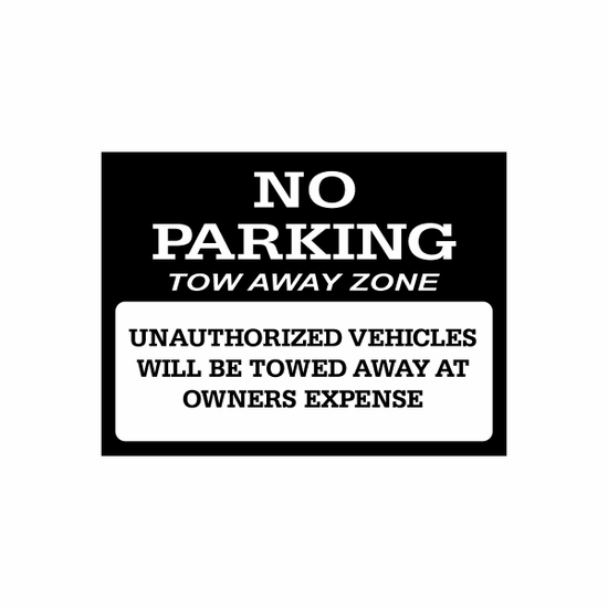 No Parking Sign Signs Home Business Car text Vinyl Decal Sticker Stickers 0018