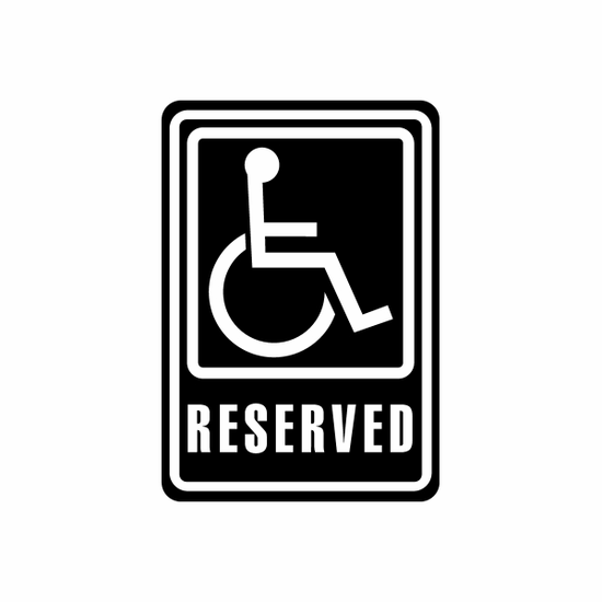 Reserved Sign Signs Home Business Car text Vinyl Decal Sticker Stickers 0020