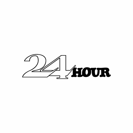 24 hour Sign Signs Home Business Car text Vinyl Decal Sticker Stickers 0022