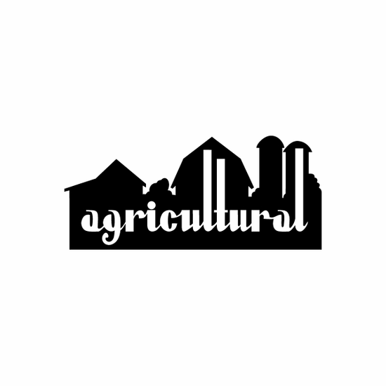 agricultural Sign Signs Home Business Car text Vinyl Decal Sticker Stickers 0023
