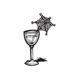 Cocktail with umbrella Decal