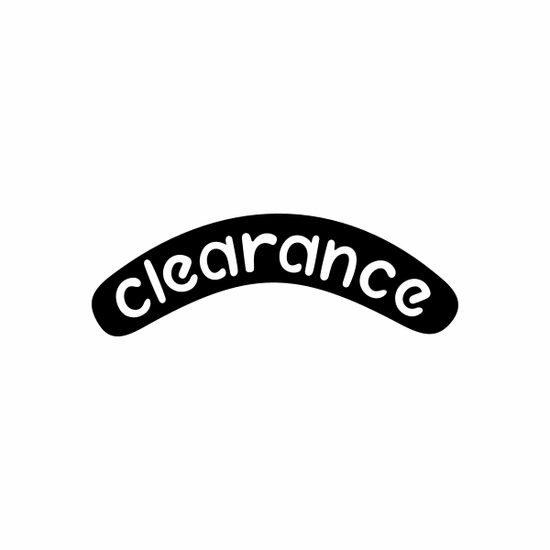 Clearance Sign Signs Home Business Car text Vinyl Decal Sticker Stickers 0025