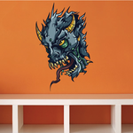 Behemoth Monster Head Sticker