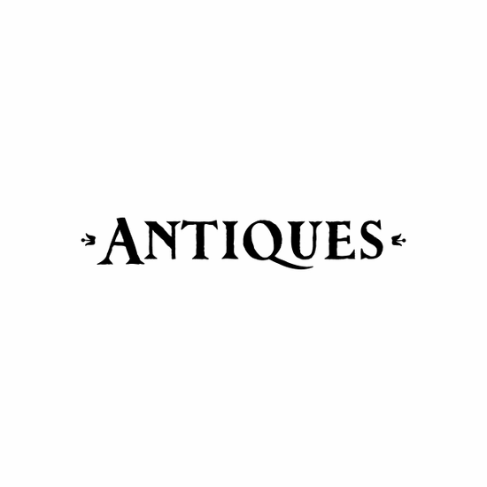 Antiques Sign Signs Home Business Car text Vinyl Decal Sticker Stickers 0045
