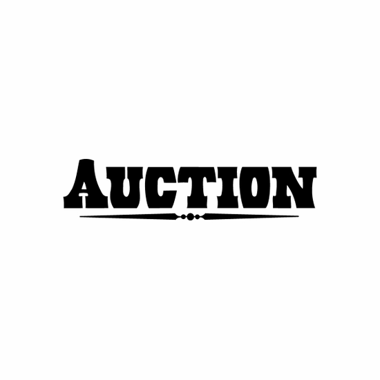 Auction Sign Signs Home Business Car text Vinyl Decal Sticker Stickers 0046