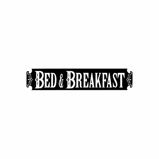 Bed and breakfast Sign Signs Home Business Car text Vinyl Decal Sticker Stickers 0048