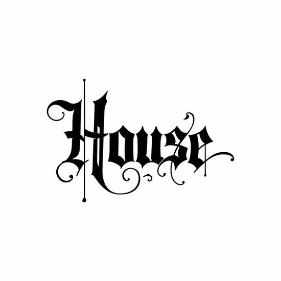House Sign Signs Home Business Car text Vinyl Decal Sticker Stickers 0053