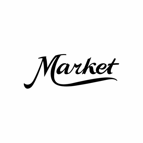 Market Sign Signs Home Business Car text Vinyl Decal Sticker Stickers 0056