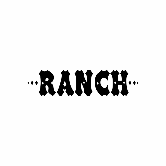 Ranch Sign Signs Home Business Car text Vinyl Decal Sticker Stickers 0061