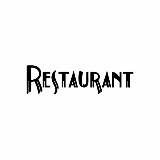 Restaurant Sign Signs Home Business Car text Vinyl Decal Sticker Stickers 0062