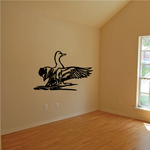 Stretching Wings Duck Decal