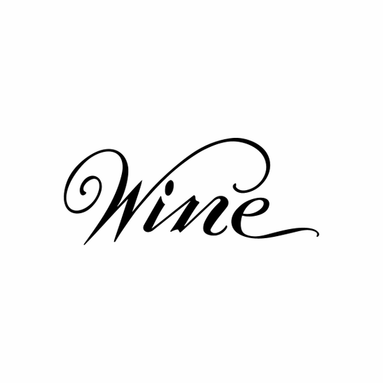 Wine Vintage Sign Signs Home Business Car text Vinyl Decal Sticker Stickers 0066