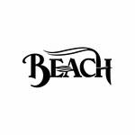 Beach Sign Signs Home Business Car text Vinyl Decal Sticker Stickers 0069