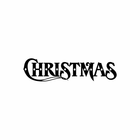 Christmas Sign Signs Home Business Car text Vinyl Decal Sticker Stickers 0070