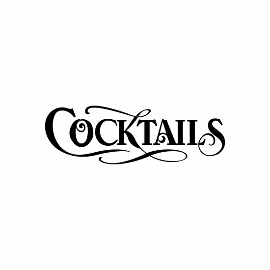 Cocktails Sign Signs Home Business Car text Vinyl Decal Sticker Stickers 0071