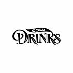 Cold Drinks Sign Signs Home Business Car text Vinyl Decal Sticker Stickers 0072