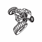 Dune Buggy Wall Decal - Vinyl Decal - Car Decal - DC 001