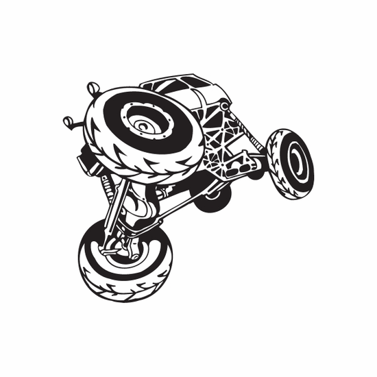 Dune Buggy Wall Decal - Vinyl Decal - Car Decal - DC 004