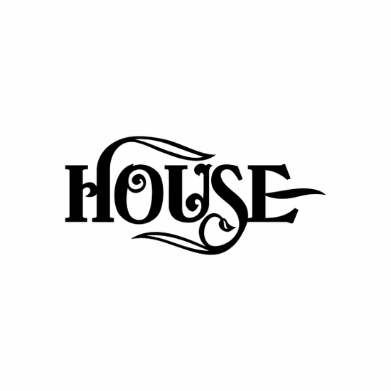 House Sign Signs Home Business Car text Vinyl Decal Sticker Stickers 0077