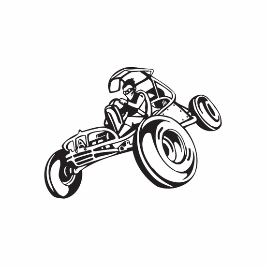 Dune Buggy Wall Decal - Vinyl Decal - Car Decal - DC 006