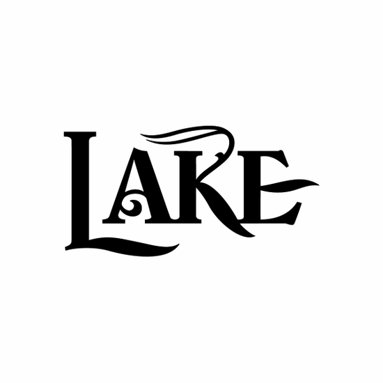 Lake Sign Signs Home Business Car text Vinyl Decal Sticker Stickers 0079
