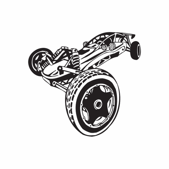 Dune Buggy Wall Decal - Vinyl Decal - Car Decal - DC 008