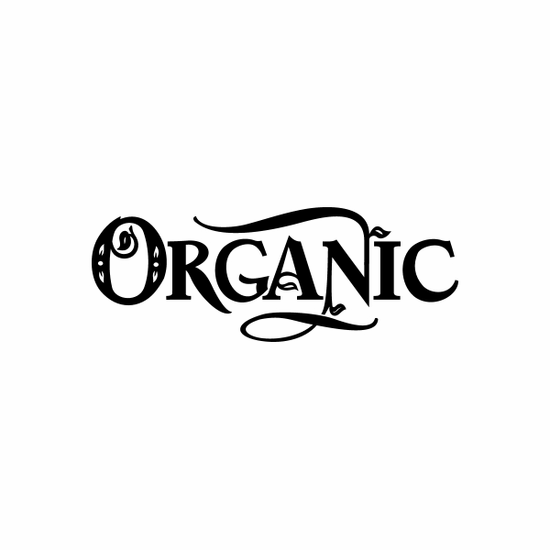 Organic Sign Signs Home Business Car text Vinyl Decal Sticker Stickers 0081
