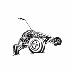 Dune Buggy Wall Decal - Vinyl Decal - Car Decal - DC 009