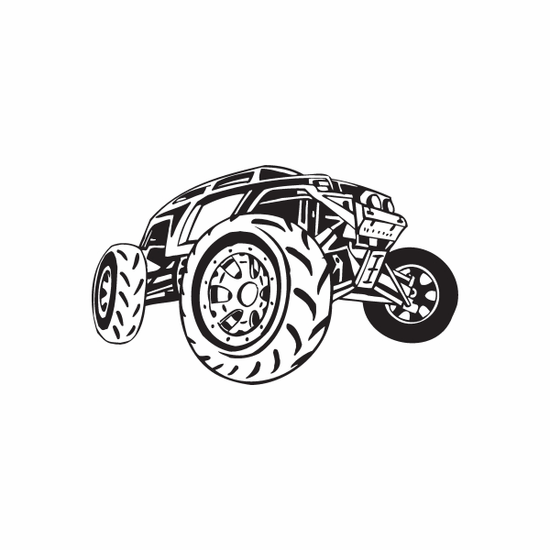Dune Buggy Wall Decal - Vinyl Decal - Car Decal - DC 010