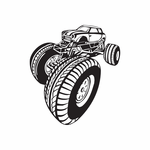 Dune Buggy Wall Decal - Vinyl Decal - Car Decal - DC 012