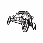 Dune Buggy Wall Decal - Vinyl Decal - Car Decal - DC 013
