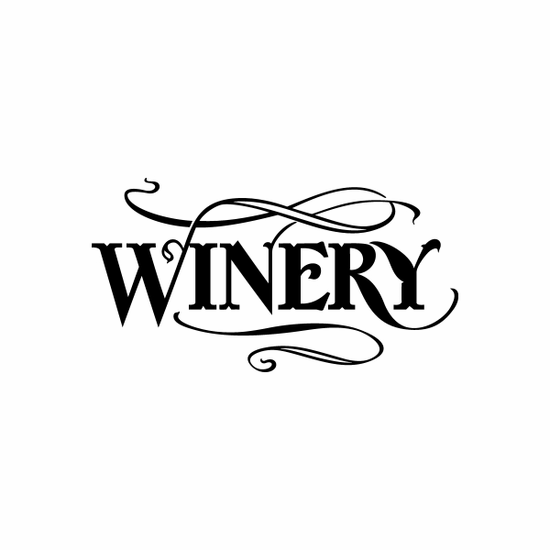 Winery Sign Signs Home Business Car text Vinyl Decal Sticker Stickers 0086