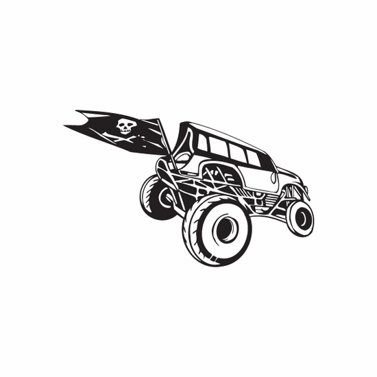 Dune Buggy Wall Decal - Vinyl Decal - Car Decal - DC 016