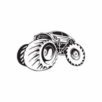 Dune Buggy Wall Decal - Vinyl Decal - Car Decal - DC 017