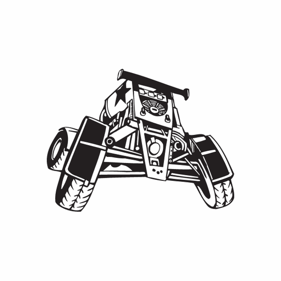 Dune Buggy Wall Decal - Vinyl Decal - Car Decal - DC 022