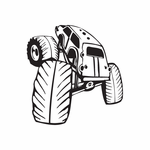 Dune Buggy Wall Decal - Vinyl Decal - Car Decal - DC 026