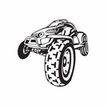 Dune Buggy Wall Decal - Vinyl Decal - Car Decal - DC 027