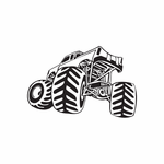 Dune Buggy Wall Decal - Vinyl Decal - Car Decal - DC 029