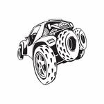 Dune Buggy Wall Decal - Vinyl Decal - Car Decal - DC 030