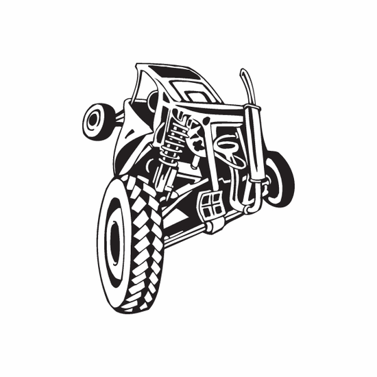 Dune Buggy Wall Decal - Vinyl Decal - Car Decal - DC 031
