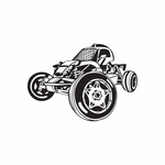 Dune Buggy Wall Decal - Vinyl Decal - Car Decal - DC 032