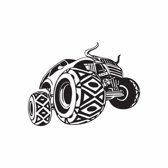 Dune Buggy Wall Decal - Vinyl Decal - Car Decal - DC 033