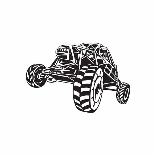 Dune Buggy Wall Decal - Vinyl Decal - Car Decal - DC 034